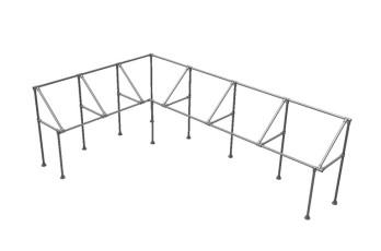 Matériel tubulaire pour salle d'exposition