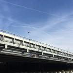 halve stepbarrier tijdelijke brug
