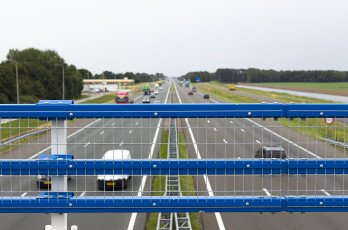 Steel Safety Railing on motorway bridges near Zwolle